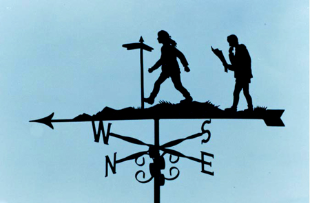 With Scrolls weather vane